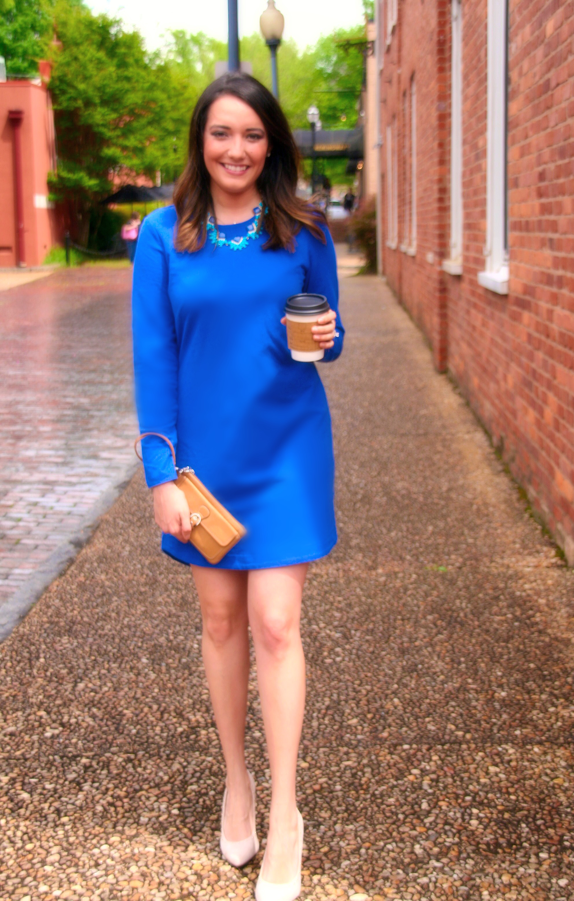 LBD :: Little Blue Dress | Pretty in Peach